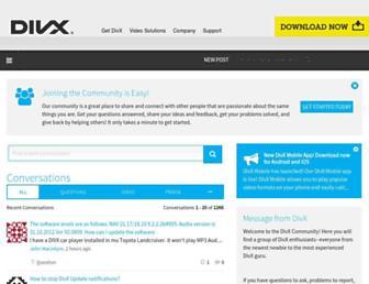 forums.divx.com screenshot