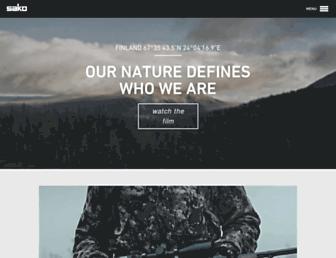 Main page screenshot of sako.fi