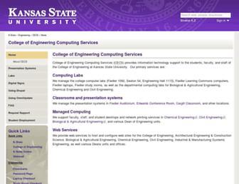 cecs.engg.ksu.edu screenshot