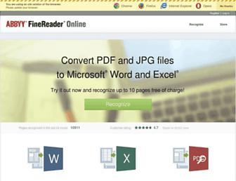 finereaderonline.com screenshot