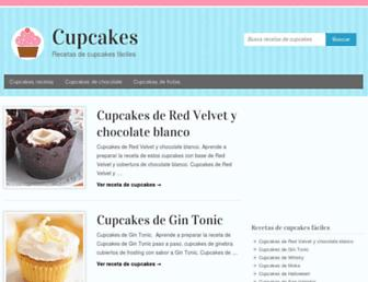 cupcakesrecetas.com screenshot