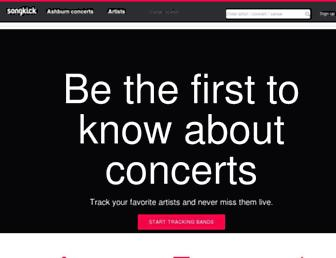 songkick.com screenshot