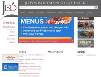 judsonisd.org screenshot