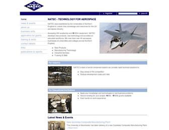 Main page screenshot of natec.org.uk