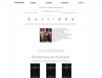 Main page screenshot of euclides.org