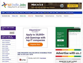 allindiajobs.in screenshot