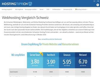 hostingtipp.ch screenshot