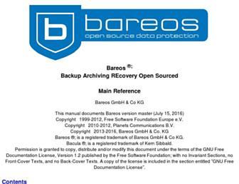 doc.bareos.org screenshot