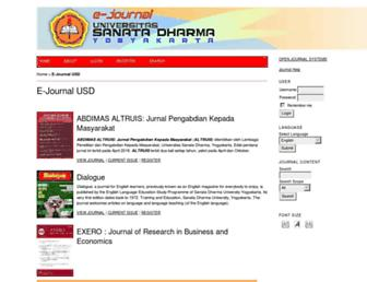 e-journal.usd.ac.id screenshot
