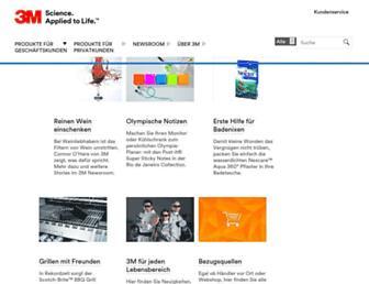 Main page screenshot of 3mdeutschland.de