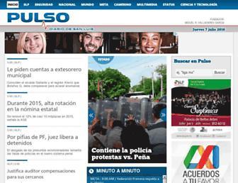 Main page screenshot of pulsoslp.com.mx