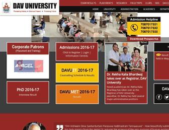 davuniversity.org screenshot