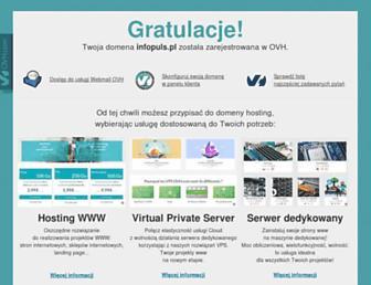 Main page screenshot of infopuls.pl