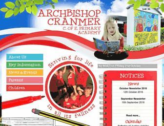 archbishopcranmer.co.uk screenshot