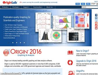 originlab.com screenshot