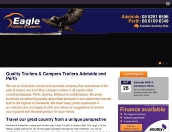 eaglecampertrailers.com.au screenshot