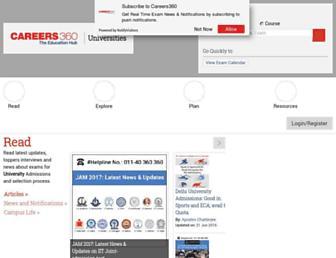 university.careers360.com screenshot