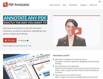 pdfannotator.com screenshot