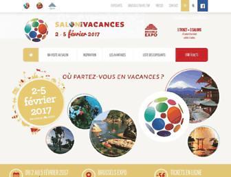 Main page screenshot of salondesvacances.eu