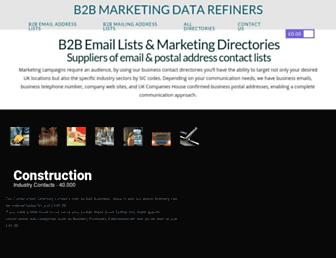 b2b-email-lists.co.uk screenshot