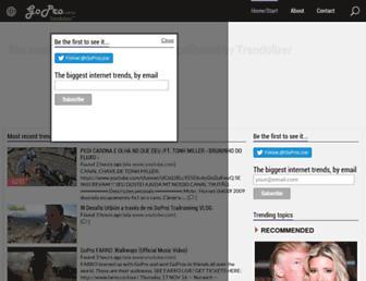 gopro.trendolizer.com screenshot