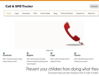 callsmstracker.com screenshot