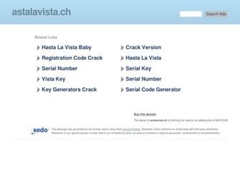 Main page screenshot of astalavista.ch