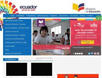 educacion.gob.ec screenshot
