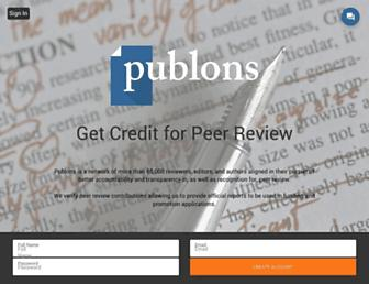publons.com screenshot