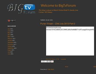 bigtvforum10.blogspot.com screenshot