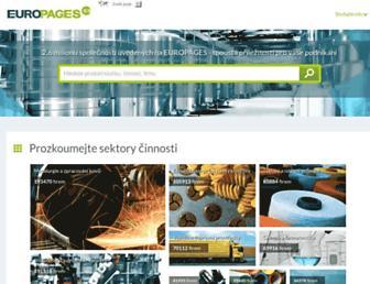 Main page screenshot of europages.cz