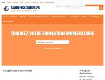 academiccourses.fr screenshot