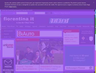Main page screenshot of fiorentina.it