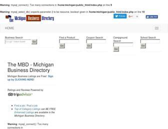 Main page screenshot of michiganbusiness.us