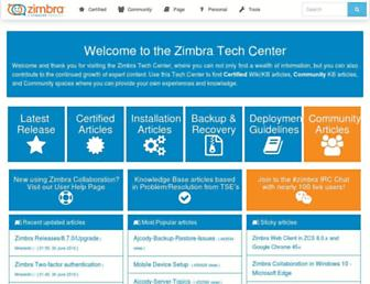 wiki.zimbra.com screenshot
