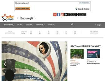 Main page screenshot of zilesinopti.ro
