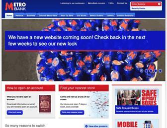 metrobankonline.co.uk screenshot
