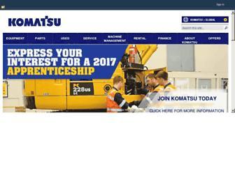 komatsu.com.au screenshot