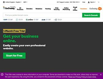 uk.godaddy.com screenshot