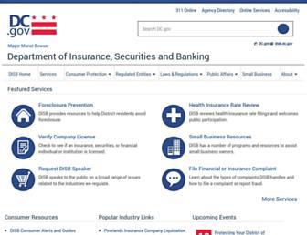disb.dc.gov screenshot