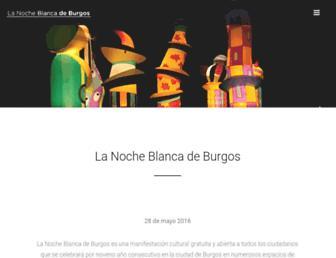 lanocheblancadeburgos.es screenshot