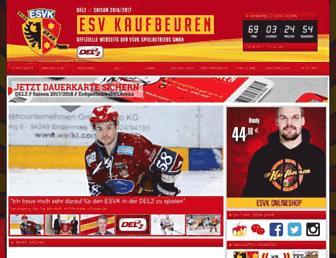 Main page screenshot of esvk.de
