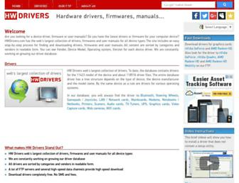 hwdrivers.com screenshot