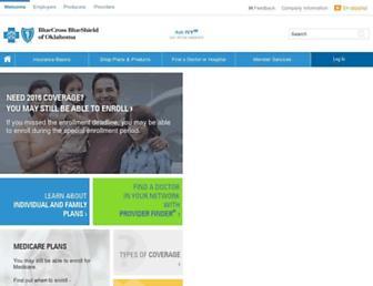 bcbsok.com screenshot