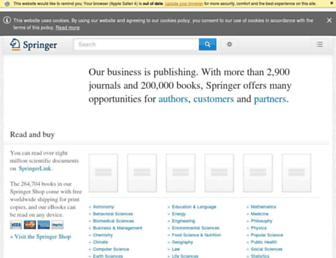 springer.com screenshot