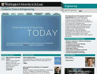cse.wustl.edu screenshot
