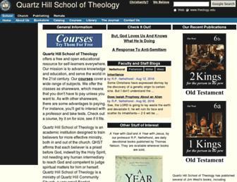 Main page screenshot of theology.edu