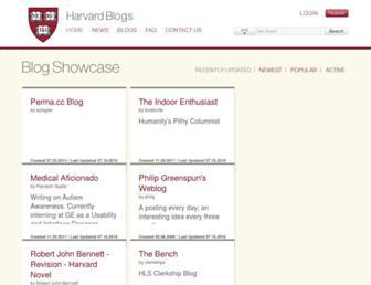 Main page screenshot of blogs.law.harvard.edu
