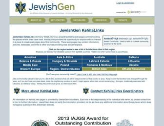 shtetlinks.jewishgen.org screenshot