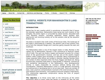 landsofmaharashtra.com screenshot
